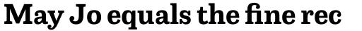 Capital Serif Bold sample