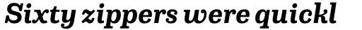 Capital Serif Bold Italic sample