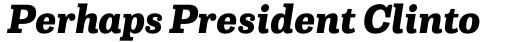 Capital Serif Extra Bold Italic sample