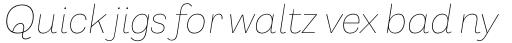 Capital Gothic Thin Italic sample