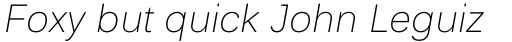 Endurance WGL Light Italic sample
