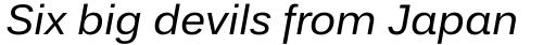 Endurance WGL Italic sample