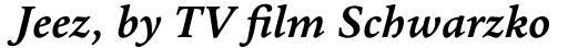 Halesworth eText Bold Italic sample