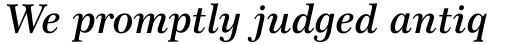 Century 751 Std Semi Bold Italic sample