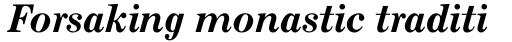 Monotype Century Pro Bold Italic sample