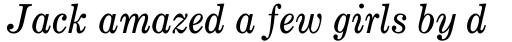 Monotype Century Pro Expanded Italic sample