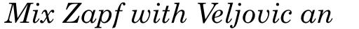 Monotype Century Schoolbook Pro Italic sample