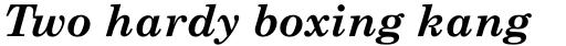 Monotype Century Schoolbook Pro Bold Italic sample