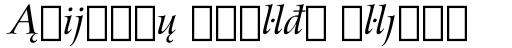 Arrus BT Std Italic Extension sample