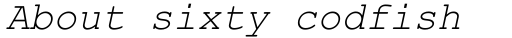 Courier Line Draw Italic sample