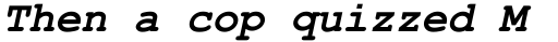 Courier Line Draw Bold Italic sample