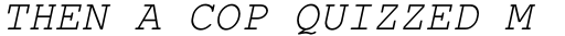 Courier PS Pro Greek Italic sample