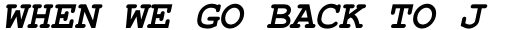 Courier PS Pro Greek Bold Italic sample