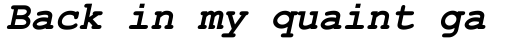 Courier New OS Bold Italic sample