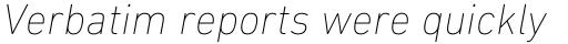 DIN Next Cyrillic UltraLight Italic sample