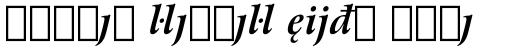 Arrus BT Std Bold Italic Extension sample