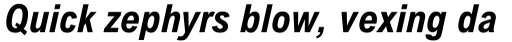 Arial Nova Condensed Bold Italic sample