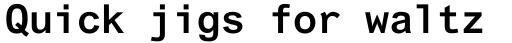 Arial Std Monospaced Bold sample