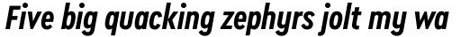 Cera Condensed Pro Bold Italic sample
