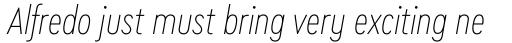 Cera Condensed Pro Thin Italic sample