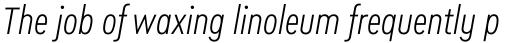 Cera Condensed Pro Light Italic sample