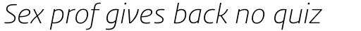 FF Aad Std Light Italic sample