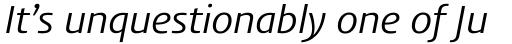 FF Aad Std Regular Italic sample