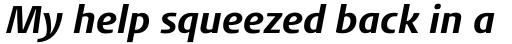 FF Aad Std Bold Italic sample