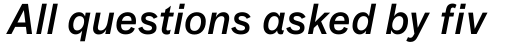FF Bau Std Medium Italic sample