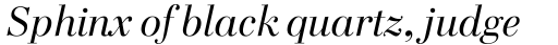 FF Cellini Std Titling Regular Italic sample