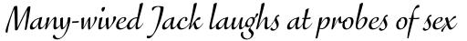 FF Eggo Std Regular Italic sample