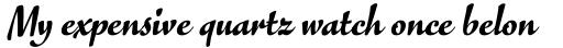 FF Eggo Std Black Italic sample