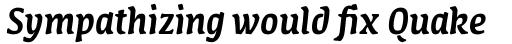 FF Amman Serif Arabic Medium Italic sample
