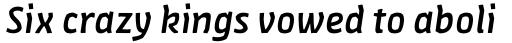 FF Amman Sans Arabic Medium Italic sample