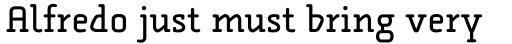 FF Alega Serif Std Regular sample