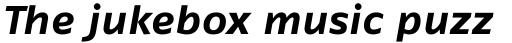 FF Fago Pro Extended Bold Italic sample