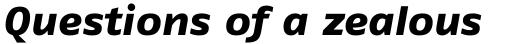 FF Fago Pro Extended Extra Bold Italic sample