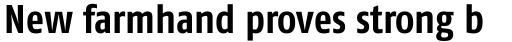 FF Fago Pro Condensed Bold sample