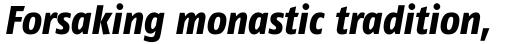 FF Fago Pro Condensed Extra Bold Italic sample