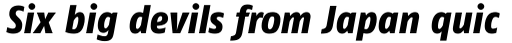 FF Fago Std Condensed Extra Bold Italic sample