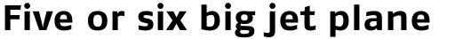 FF Fago Std Extended Bold sample