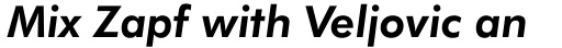 Futura BT Pro Bold Italic sample