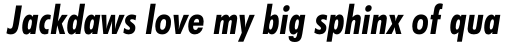 Futura BT Pro Condensed Bold Italic sample