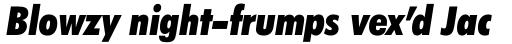 Futura BT Pro Condensed Extra Black Italic sample