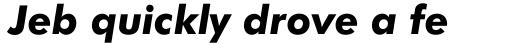 Futura BT Pro Heavy Italic sample