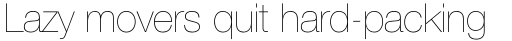 Neue Helvetica Pro 25 Ultra Light sample