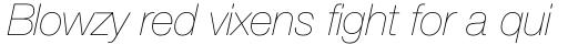 Neue Helvetica Pro 26 Ultra Light Italic sample