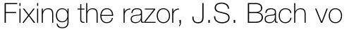 Neue Helvetica Pro 35 Thin sample