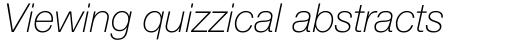 Neue Helvetica Pro 36 Thin Italic sample