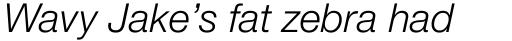 Neue Helvetica Pro 46 Light Italic sample